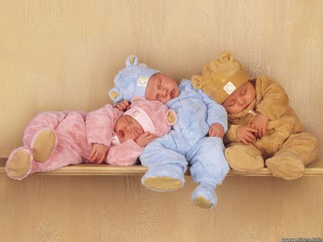 Bebés durmiendo